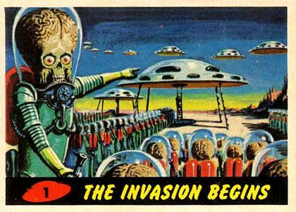 Mars Attacks! Card nr 1