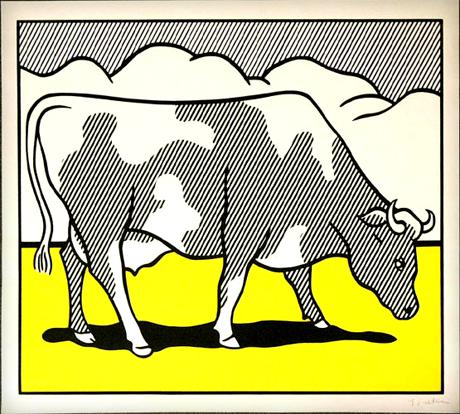 Roy Lichtenstein cow
